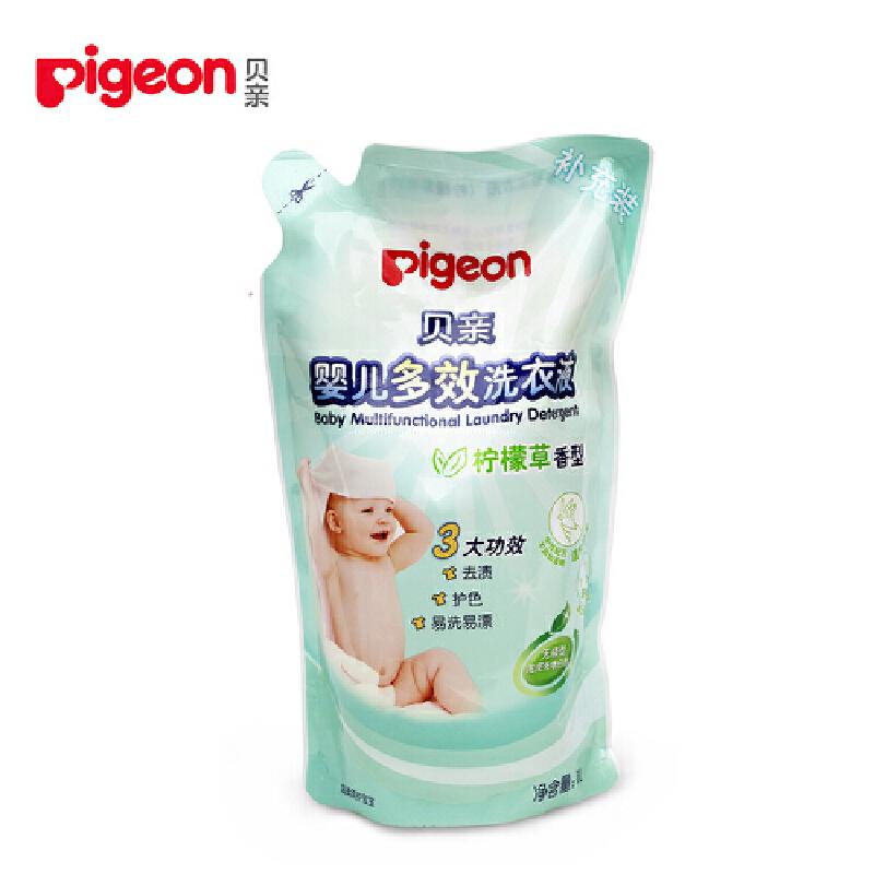 贝亲Pigeon婴儿多效洗衣液(柠檬草香)1L 补充装贝亲 正品保证 超值优惠 欢迎选购