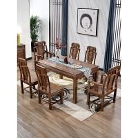 家具餐桌椅组合长方形全实木中式餐厅饭桌八仙桌