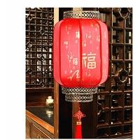 冬瓜灯笼大红灯笼防水印字灯笼中式吊灯羊皮户外灯笼节日装饰灯笼