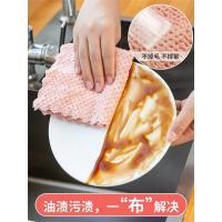 家用洗碗布不沾油抹布�N房用品吸水毛巾不掉毛擦桌布家�涨��去油