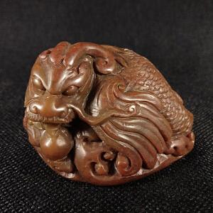 精雕貔貅寿山石
