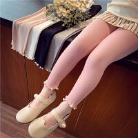 女童打底裤春装儿童花边弹力修身小脚裤女孩裤子