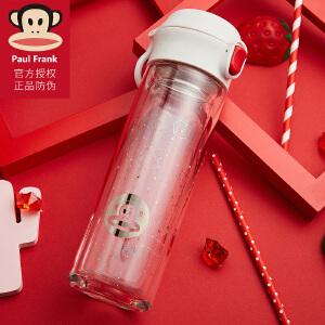 Starbucks星巴克水杯 时尚绿色杯套水壶夏季玻璃水瓶350ml