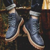 男鞋冬季中帮马丁靴男短靴英伦皮靴工装靴子男靴