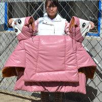 电动车护腿被 电动摩托车挡风被冬季保暖加厚电瓶车踏板pu皮加绒加大防寒防风罩