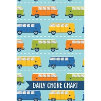 【�A�】Daily Chore Chart: Car Vans Kids Weekly Checklist Task F