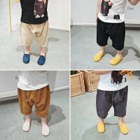 宝宝中裤夏季婴幼儿童七分裤男童阔腿裤休闲裤