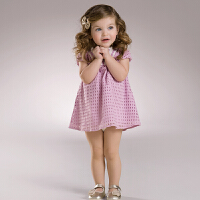 davebella戴维贝拉 女童夏装新款短袖连衣裙 公主裙子34060