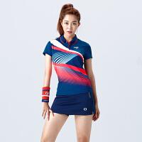 2018新款yy羽毛球服套装女情侣款短袖速干圆领网球比赛队服定制夏 X