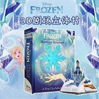 冰雪奇缘绘本 英文原版立体书 Disney Frozen A Pop-Up Adventure 儿童冒险迪士尼 玩具书