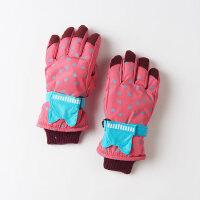 加厚款儿童手套冬 男孩 五指8-10岁滑雪小孩手套女童冬天保暖骑车