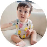 2016夏季新款婴幼儿连体衣短袖男宝宝衣服新生儿哈衣爬服儿童背心