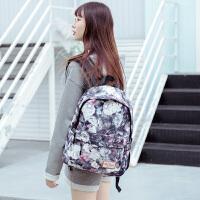 双肩包女韩版电脑包潮帆布旅行包背包学生书包