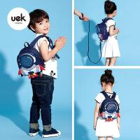 uek防走失背包3-6岁幼儿园书包儿童男女孩宝宝防走丢火箭双肩包