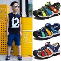 儿童凉鞋男童夏季童鞋女童中大童宝宝学生包头沙滩鞋