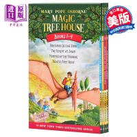 【中商原版】神奇树屋英文原版 Magic Tree House: Dinosaurs Before Dark1-4盒装