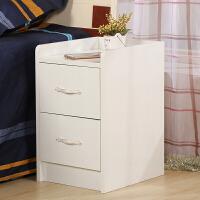 床头柜 简约现代 小型 窄 迷你 25cm 30公分 35厘米 40厘米床头柜 A款40宽白色 组装