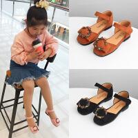 春夏女童鞋子公主鞋镶钻女童包头凉鞋儿童皮鞋单鞋表演舞蹈鞋