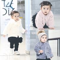 宝宝婴儿童装秋冬装秋季上衣服0岁6月童新生儿开衫外套新年