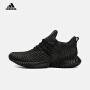 adidas阿迪达斯2018新款男子阿尔法小椰子 酷黑运动跑步鞋D96805