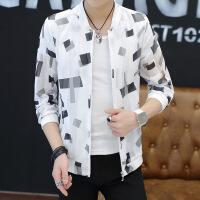 2018夏季新款男士防晒衣镂空透气舒适外套青少年薄款夹克男韩版潮