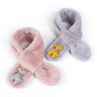 韩版儿童围巾男女童宝宝毛绒围脖户外加厚保暖小孩脖套