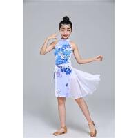 女童拉丁舞蹈裙儿童拉丁练功服班服少儿女孩拉丁比赛服装演出表演