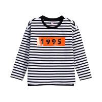 【3件6折】小猪班纳童装男童长袖t恤春秋款男孩体恤儿童条纹上衣