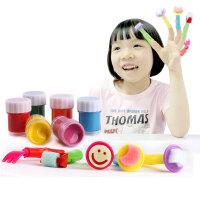 Disney 迪士尼公主 公主造型手指画 DS-1541 迪士尼公主造型手指画颜料套装儿童益智玩具水洗画 当当自营