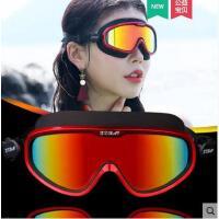 新品大框防水平光游泳潜水装备男女电镀高清防雾游泳眼镜