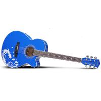 Saysn思雅晨40寸民谣吉他初学入门新手木吉他乐器吉它jita暗香套装