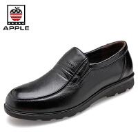 苹果Apple商务皮鞋套脚男鞋 头层牛皮商务休闲鞋软底耐磨正装皮鞋5290027