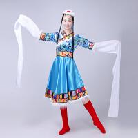 新款女装藏族舞蹈服装演出服装民族舞蹈表演服水袖西藏雪莲花藏族