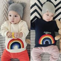 婴儿加绒上衣宝宝冬季外套保暖外出服0-1岁新生儿冬装3-6-9个月潮