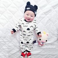婴儿衣服春装连体衣春07月宝宝外出服新生儿爬爬服睡衣新年