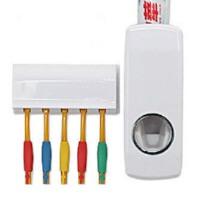 普润 自动挤牙膏器 家居挤压器带5位牙刷架