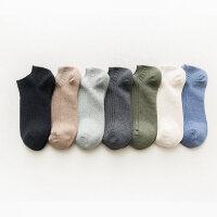 袜子男短袜薄款男士纯棉袜短筒低帮防臭吸汗黑色船袜男潮
