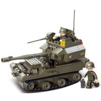 【满200减100】小鲁班装甲兵团军事系列儿童益智拼装积木玩具 T90坦克M38-B0282