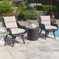 户外家具花园桌椅组合藤编三件套件庭院阳台茶几休闲藤椅