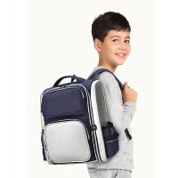 卡拉羊英伦校园书包男小学生1-3-5年级减负护脊儿童双肩背包