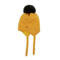 户外运动防风帽男女孩套头保暖帽可爱大球帽韩版针织毛线帽护耳帽