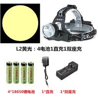 超亮LED头灯T6强光矿灯夜钓钓鱼灯探照灯充电式远射手电筒L2
