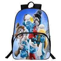 蓝精灵书包儿童双肩幼儿园魔发背包波比小学生1-6年级男孩 2-12岁 3d1号适合6-12岁送文具22件套