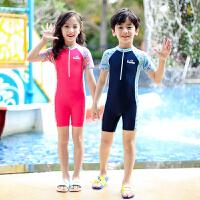 儿童泳衣女夏中大童女孩连体游泳衣宝宝速干防晒泳装