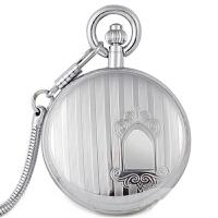 机械表 手表男女士机械表防水复古怀表古董表 银色