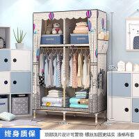衣柜简易布衣柜子单人宿舍实木组装简约现代经济型学生小衣橱 2门