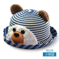 婴儿凉帽草帽太阳帽韩版儿童帽子男女宝宝防晒遮阳帽