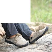 男士户外休闲鞋男秋季登山鞋户外徒步男鞋系带休闲牛筋底男鞋