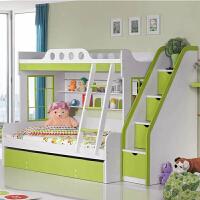 韩式儿童板式家具 高箱床 儿童多功能子母床