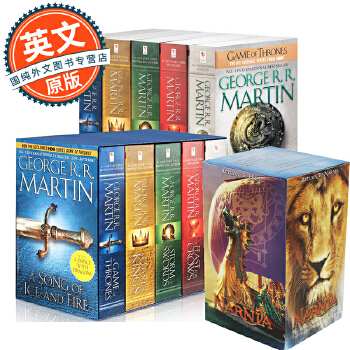 冰与火之歌 英文原版A Song of Ice and Fire1-5全集美版盒装&Chronicles of Narnia Box Set (MTI) 纳尼亚传奇套装7本全集 原版包邮